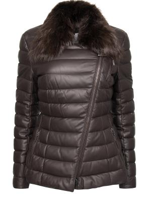 Кожаная куртка MONCLER