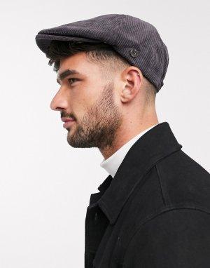 Темно-серая вельветовая кепка -Серый Ben Sherman