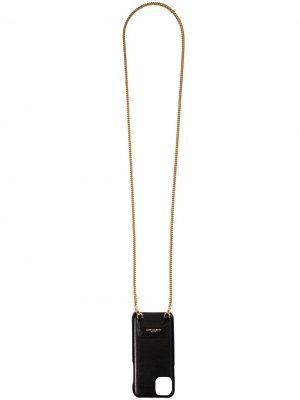 Чехол для iPhone 11 Pro Max Saint Laurent. Цвет: черный