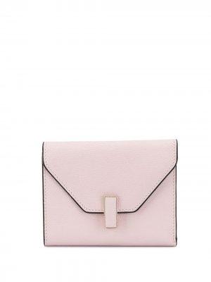 Кошелек-конверт Iside Valextra. Цвет: розовый