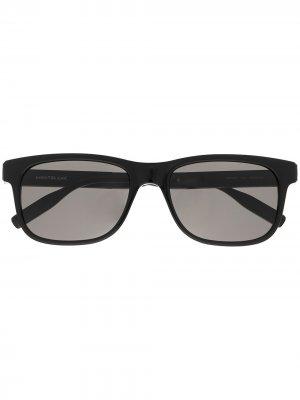 Солнцезащитные очки в прямоугольной оправе Montblanc. Цвет: черный