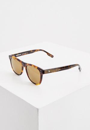 Очки солнцезащитные Montblanc MB0124S. Цвет: коричневый