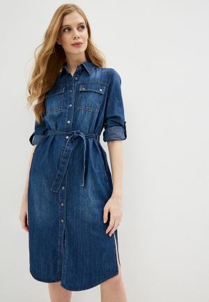 Платье джинсовое Sisley. Цвет: синий