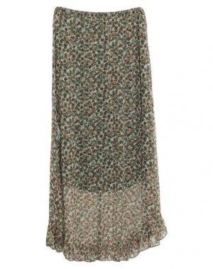 Длинная юбка JEFF. Цвет: зеленый