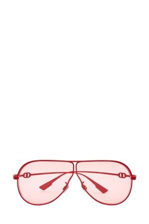 Очки-авиаторы в тонкой прорезиненной оправе DIOR (sunglasses) women. Цвет: красный
