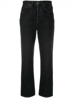 Укороченные джинсы Mece прямого кроя Acne Studios. Цвет: черный
