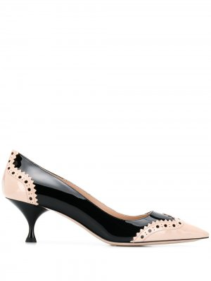 Туфли-лодочки с брогированием Miu. Цвет: черный