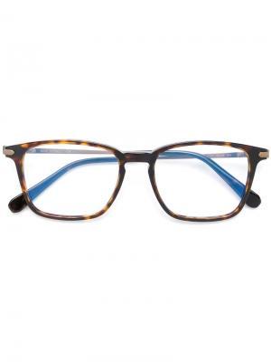 Square frame glasses Brioni. Цвет: коричневый