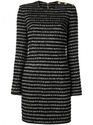 Твидовое платье мини по фигуре Balmain