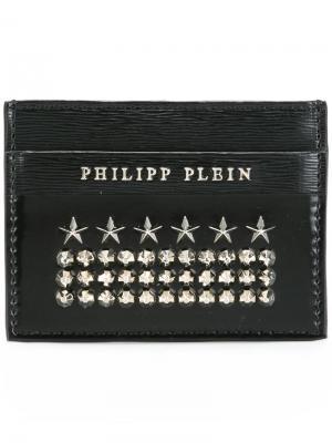 Визитница с заклепками Philipp Plein. Цвет: чёрный