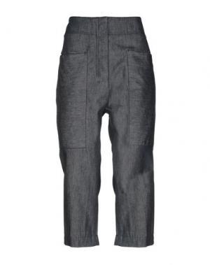 Джинсовые брюки-капри DKNY. Цвет: синий