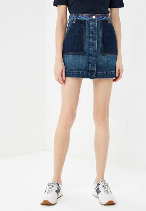 Юбка джинсовая Tommy Hilfiger. Цвет: синий