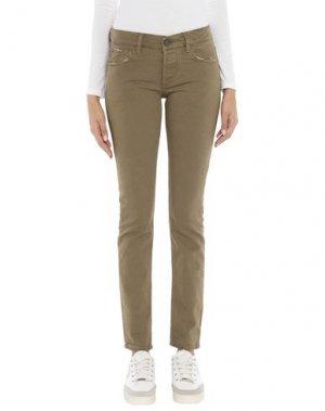 Джинсовые брюки MAISON CLOCHARD. Цвет: хаки