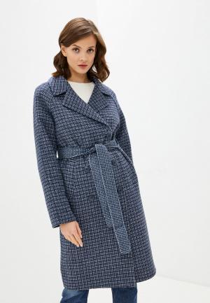 Пальто UNQ. Цвет: синий