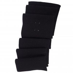 Черный шарф в рубчик Maison Margiela