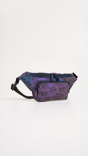 X Baron von Fancy Flash Reflective Belt Bag LeSportsac