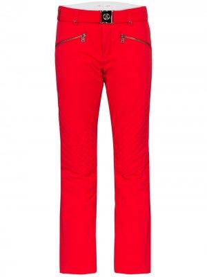 Лыжные брюки Franzi2 с поясом Bogner. Цвет: красный
