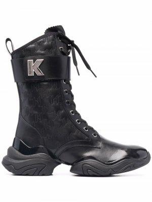 Туфли дерби Troupe Karl Lagerfeld. Цвет: черный
