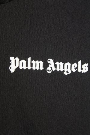 Черная олимпийка с лампасами Palm Angels. Цвет: черный