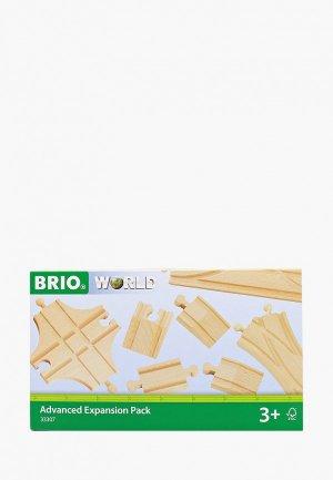 Конструктор Brio Ж/д полотно многофункциональное, 5,4-21,6 см. Цвет: коричневый
