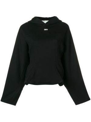Flared jersey hoodie Off-White. Цвет: черный