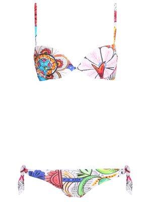 Купальник-бикини с принтом RITRATTI. Цвет: разноцветный