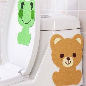 1шт Случайная наклейка дезодоранта для туалета с мультипликационным узором SHEIN. Цвет: многоцветный