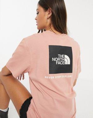 Розовая футболка -Розовый The North Face
