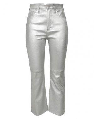 Повседневные брюки CURRENT/ELLIOTT. Цвет: серебристый