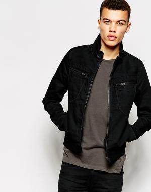 Черная узкая джинсовая куртка на молнии G Star Arc 3D Raw G-Star