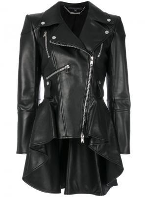 Peplum waist biker jacket Alexander McQueen. Цвет: чёрный