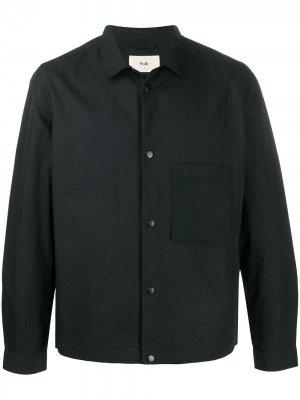 Куртка на пуговицах Folk. Цвет: синий