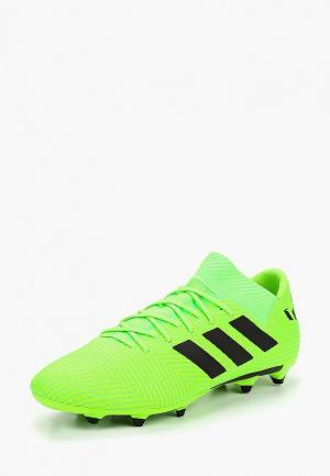 Бутсы adidas NEMEZIZ MESSI 18.3 FG. Цвет: зеленый
