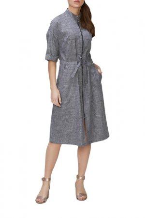 Платье Argent. Цвет: деним