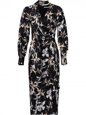 Жаккардовое платье с длинными рукавами Jason Wu Collection. Цвет: черный