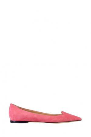 Розовые замшевые туфли Jimmy Choo. Цвет: розовый