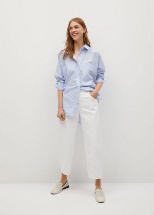 Прямые джинсы с пуговицами - Buttons Mango. Цвет: белый