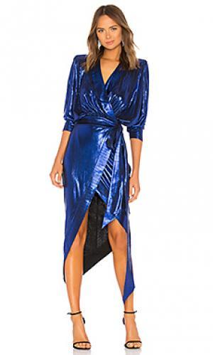 Платье picture this Zhivago. Цвет: синий