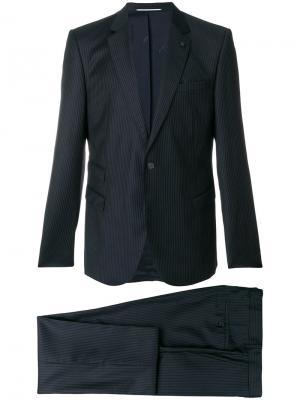 Костюм в полоску Karl Lagerfeld. Цвет: синий