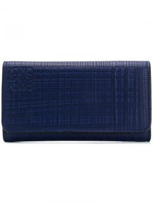 Плетеная ключница Loewe. Цвет: синий