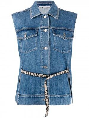 Джинсовая куртка без рукавов с логотипом Stella McCartney. Цвет: синий