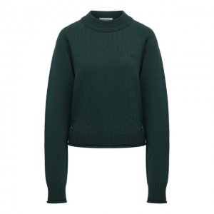 Шерстяной пуловер Kenzo. Цвет: зелёный