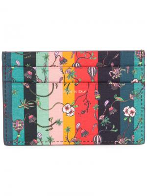 Полосатая визитница с цветочным принтом Paul Smith. Цвет: многоцветный