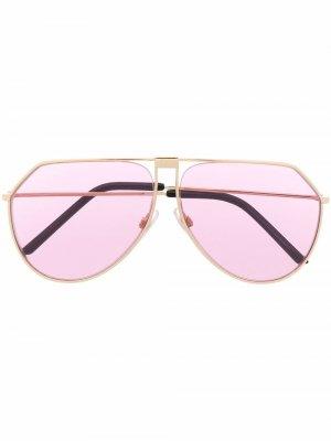 Солнцезащитные очки-авиаторы DG2248 Dolce & Gabbana Eyewear. Цвет: золотистый