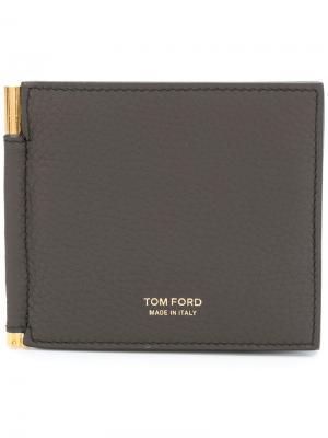 Складная визитница Tom Ford. Цвет: коричневый