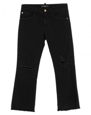 Джинсовые брюки-капри CARLA G.. Цвет: черный