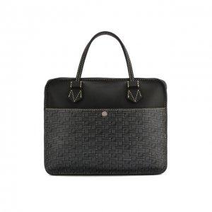 Кожаная сумка для ноутбука Moreau. Цвет: серый