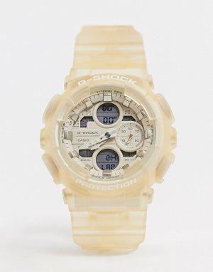 Кремовые часы с резиновым браслетом G Shock GMA-S140NC-Кремовый Casio