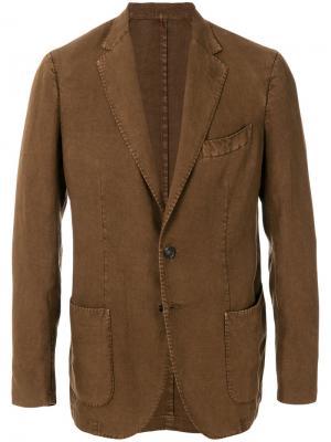 Delloglio пиджак классического кроя Dell'oglio. Цвет: коричневый