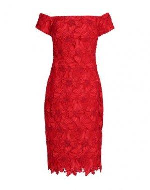 Платье до колена BLACK HALO EVE by LAUREL BERMAN. Цвет: красный